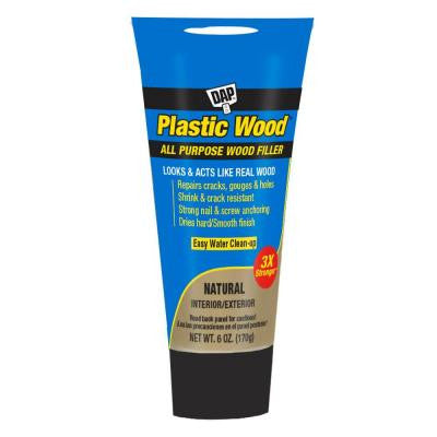Plastic Wood 6 oz. White Latex Carpenter's Wood Filler