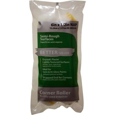 6 in. x 1/2 in. Fabric Corner Roller Covers (2-Pack)
