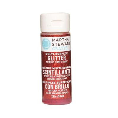 2-oz. Garnet Multi-Surface Glitter Acrylic Craft Paint