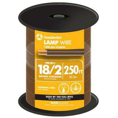 250 ft. 18/2 Lamp Wire - Brown