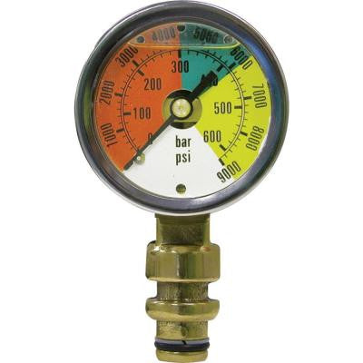 PMN Series 2 in. Forged Brass Liquid Filled Mining Pressure Gauge with 3/8 in. Steck-O Connection and 0-9000 psi/Bar