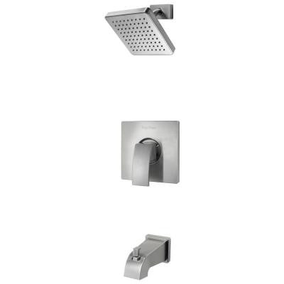 Kenzo 1-Handle Tub and Shower Faucet Trim Kit in Brushed Nickel (Valve Not Included)