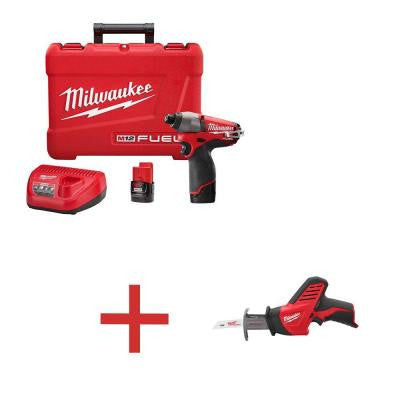 M12 FUEL 1/4 in. Hex Impact Driver Kit with Free M12 HACKZALL (Tool-Only)