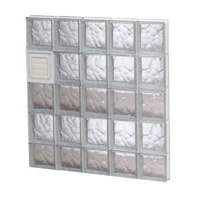 28.75 in. x 36.75 in. x 3.125 in. Wave Pattern Glass Block Window with Dryer Vent