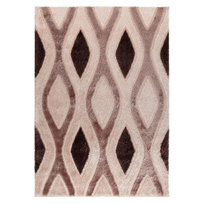 Casa Regina Collection Contemporary Abstract Design Beige 7 ft. 10 in. x 9 ft. 10 in. Area Rug