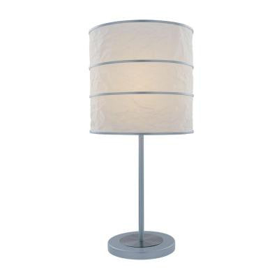 25 in. Polished Steel Table Lamp