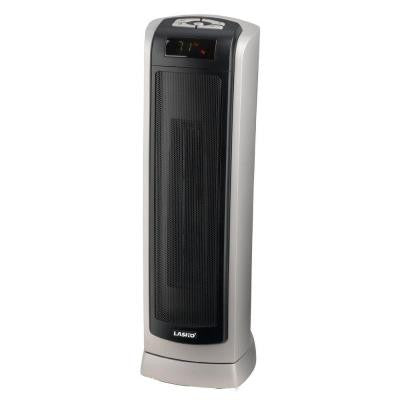 8.75 in. 1500-Watt Ceramic Tower Heater with Digital Display and Remote Control