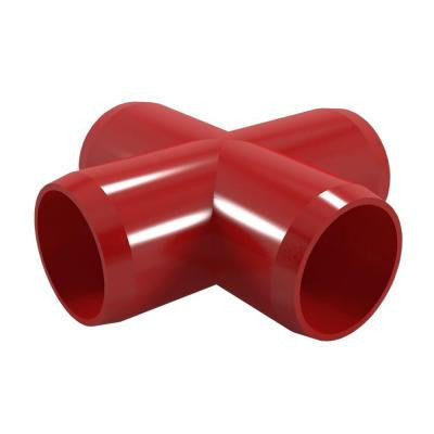3/4 in. Furniture Grade PVC Cross in Red (8-Pack)