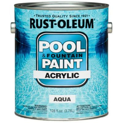 1-gal. Aqua Acrylic Pool and Fountain Paint (2-Pack)