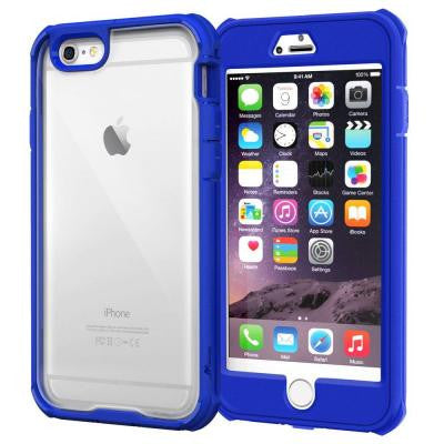 Glacier Tough Hybrid PC TPU Rugged Case for iPhone 6 Plus 5.5 - Blue