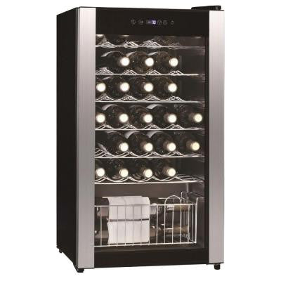 3.1 cu. ft. 33-bottles Wine Cooler in Black with Stainless Steel Trim