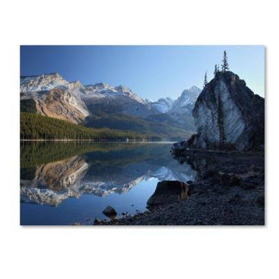 22 in. x 32 in. Jasper Maligne Lake Canvas Art