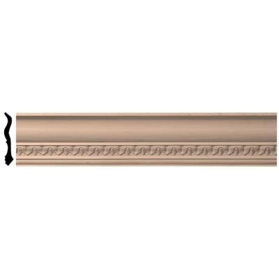 4-3/4 in. x 96 in. x 4-7/8 in. Unfinished Wood Alder Lanarkshire Carved Crown Moulding