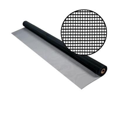 36 in. x 50 ft. Black Aluminum Screen