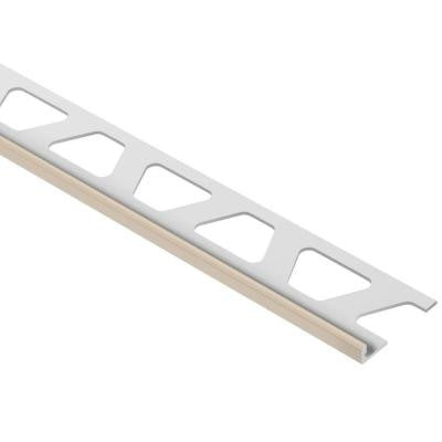 Jolly Light Beige Color-Coated Aluminum 3/16 in. x 8 ft. 2-1/2 in. Metal Tile Edging Trim