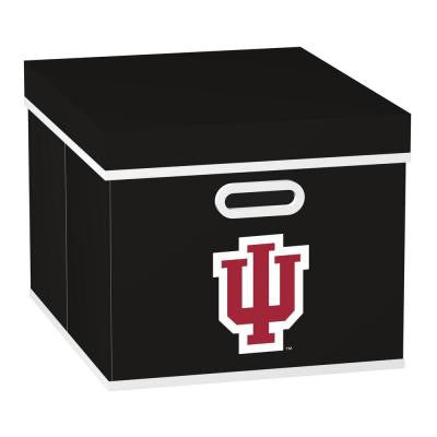 College STACKITS Indiana University 12 in. x 10 in. x 15 in. Stackable Black Fabric Storage Cube