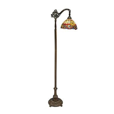 Tiffany Baroque Bridge 62 in. Bronze Floor Lamp