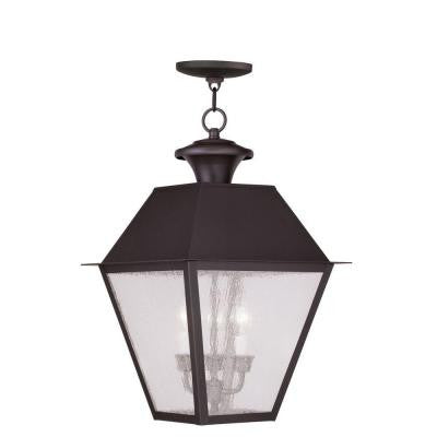 Providence 3-Light Hanging Outdoor Bronze Incandescent Lantern