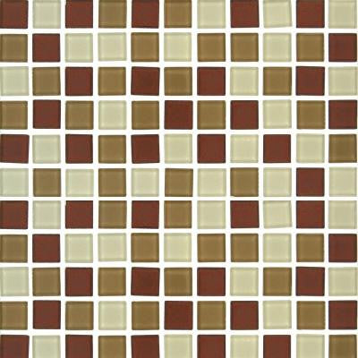 Sedona Blend 12 in. x12 in. x 4 mm Glass Mesh-Mounted Mosaic Tile (20 sq. ft. / case)