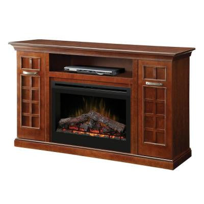 Yardley 33 in. Media Console Electric Fireplace in Chestnut