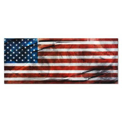 Brevium 19 in. x 48 in. American Glory Metal Wall Art