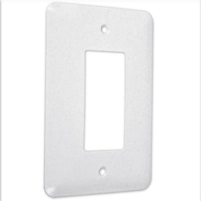 1 Gang Decorator Maxi Metal Wall Plate - White Textured (25-Pack)