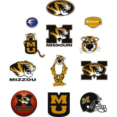 40 in. x 27 in. Missouri Tigers Team Logo Assortment Wall Decal