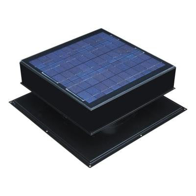 20-Watt 1280 CFM Black Solar Powered Attic Fan