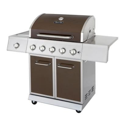 5-Burner Stainless Steel Propane Gas Grill with Side Burner