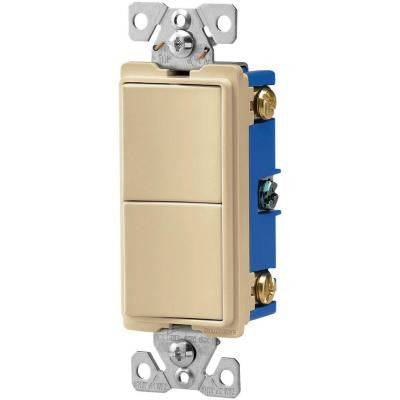 15-Amp 120-Volt 3-Way Decorator 2 Single-Pole Combination Switches - Ivory