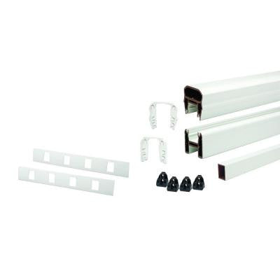 Transcend 91.5 in. Classic White Stair Rail Kit with 17 Balusters