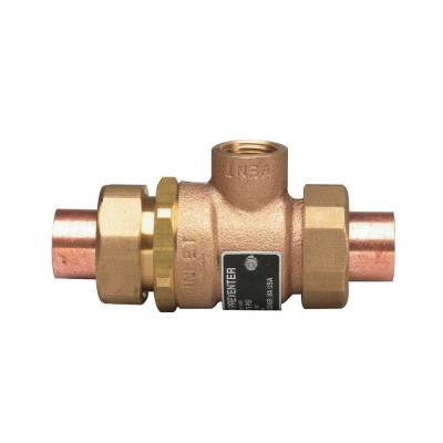 1/2 in. Cast-Brass SWT x SWT Dual Check Vacuum Breaker with Solder Ends