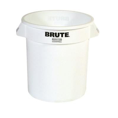 BRUTE 10 Gal. White Round Trash Can