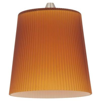 Ambiance Cased Amber Ribbed Glass Pendant Shade