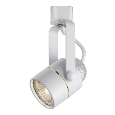 120-Volt White Pinhole Cylinder Linear Track Lighting Head
