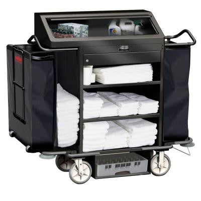Deluxe High Security Housekeeping Cart