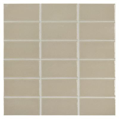 Prologue Delicate Gray 12 in. x 12 in. x 6 mm Glazed Ceramic Mosaic Tile
