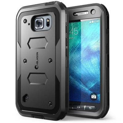 Galaxy S6 Active Armorbox Full Body Case with Screen Protector - Black