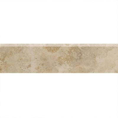 Alessi Dorato 3 in. x 13 in. Glazed Porcelain Bullnose Floor and Wall Tile