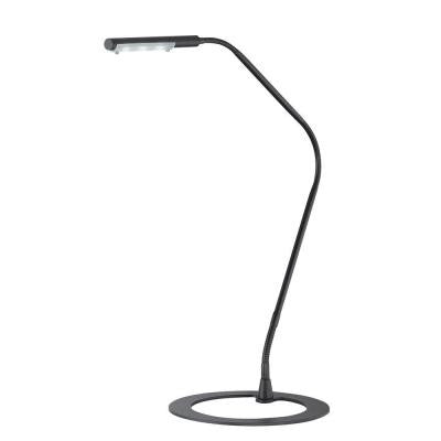 38 in. LED Black Desk Lamp