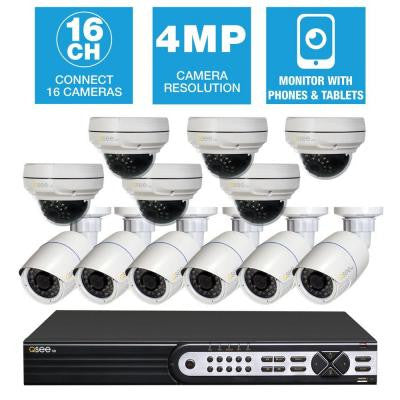 Freedom Series 16-Channel 1280TVL 4MP 3TB Network Video Recorder with (12) 4MP High Definition Cameras