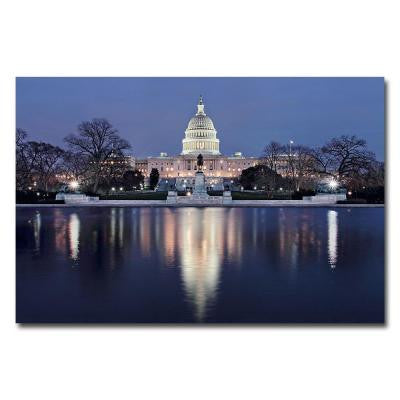 22 in. x 32 in. Capitol Reflections Canvas Art