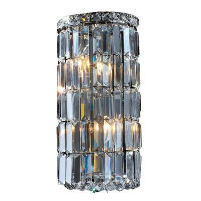Cascade 4-Light Chrome Clear Crystal Wall Sconce