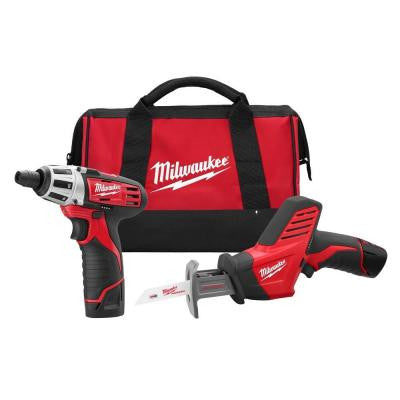 Reconditioned M12 12-Volt Lithium-Ion Cordless Screwdriver/Hackzall Reciprocating Saw Combo Kit (2-Tool)