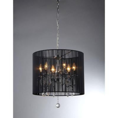 Sylvia 6-Light Chrome Crystal Chandelier