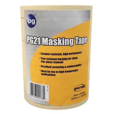 PG 21 1 in. x 60 yd. Lacquer Resistant Performance Grade Masking Tape (9-Pack)