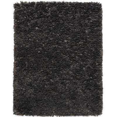 Gray Paper Shag 5 ft. x 8 ft. Area Rug
