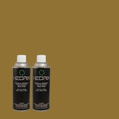 11 oz. Match of S-H-390 Italian Olive Gloss Custom Spray Paint (2-Pack)