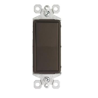 15-Amp Single Pole Decorator Rocker Switch - Dark Bronze