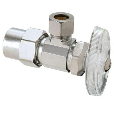 1/2 in. Nominal CPVC Inlet x 1/2 in. O.D. Compression Outlet Brass Multi-Turn Angle Valve (5-Pack)
